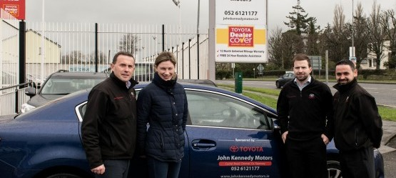 Brand Ambassador Nina Carberry collects her new 161 car.